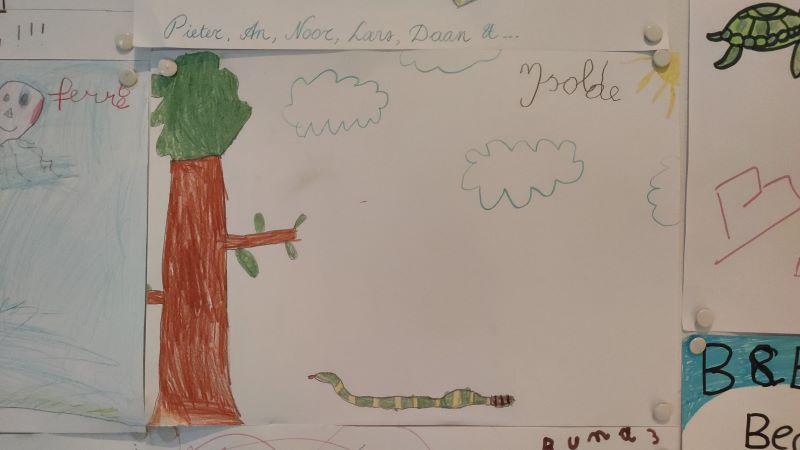 tekening van Isolde