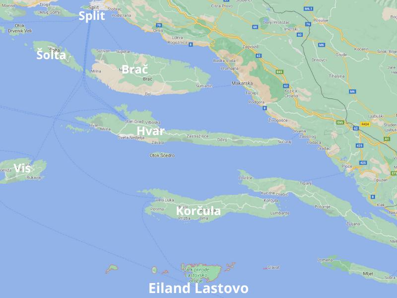 eiland Lastovo Kroatië