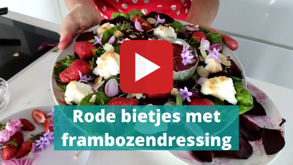 Rode bietjes met frambozen video