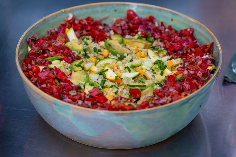 quinoa salade met tomaten salsa vegetarisch eten in Zadar