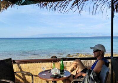 beach bar strand sotorisce eiland silba