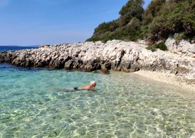 strand Ugljanica eiland Silba