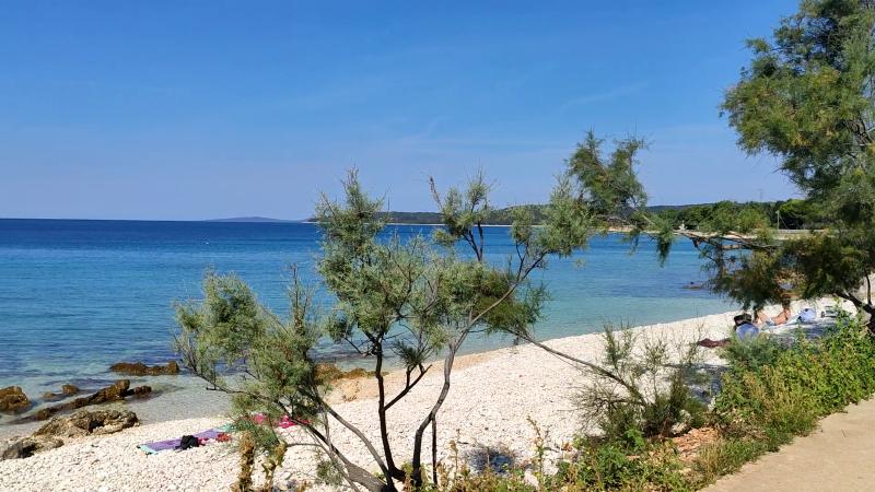 Strand op eiland Silba
