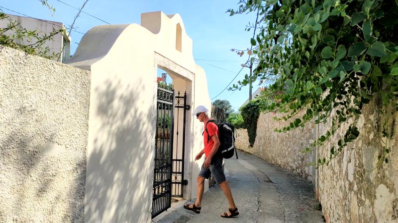 smalle straatjes eiland Silba autovrij