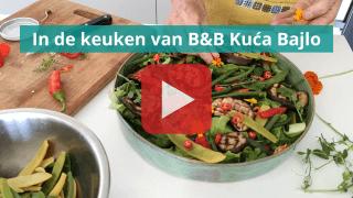 in de keuken van Kuca Bajlo
