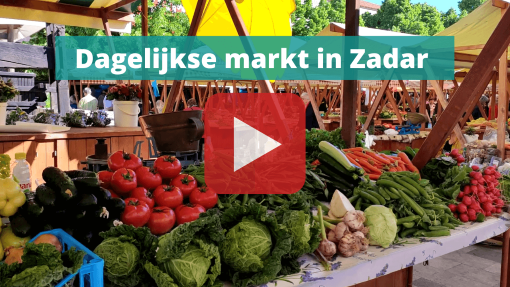 dagelijkse markt in zadar